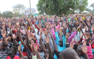 Moi's Bridge, Kenya: Pastor John & Tabby